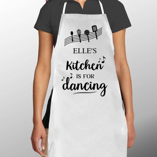 Personalised Kitchen is for Dancing Women's Apron