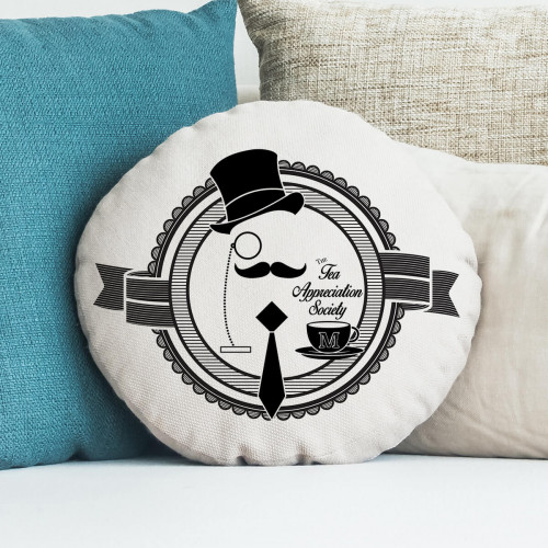 personalised Tea Appreciation Society Round Cushion 18""