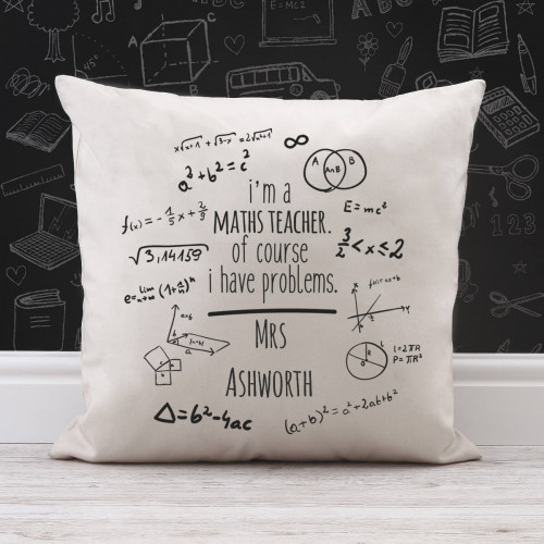 personalised Math's Problems Cotton Cushion