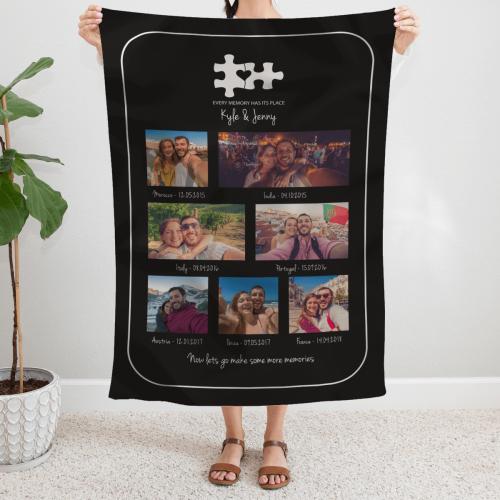 Memories Photo Collage Blanket