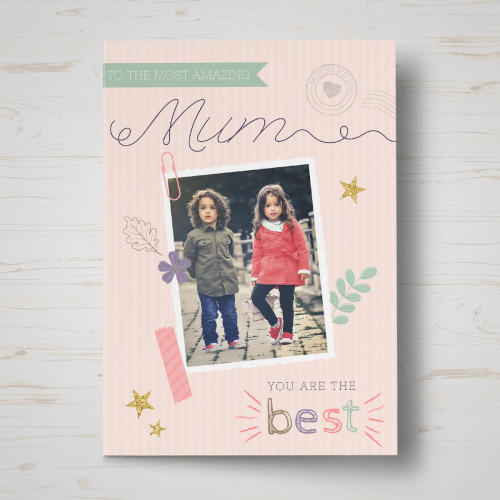personalised Most Amazing Mum mother's day card