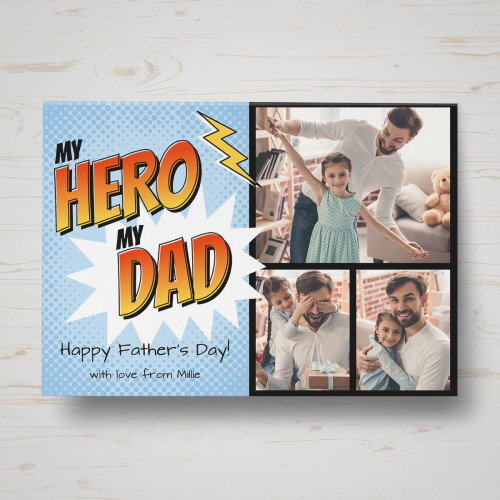 Personalised My Here My Dad Father's Day Card