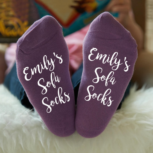 personalised name sofa socks