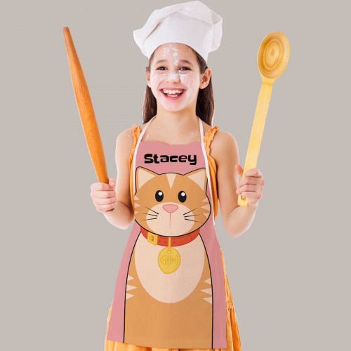 Personalised Cat Apron