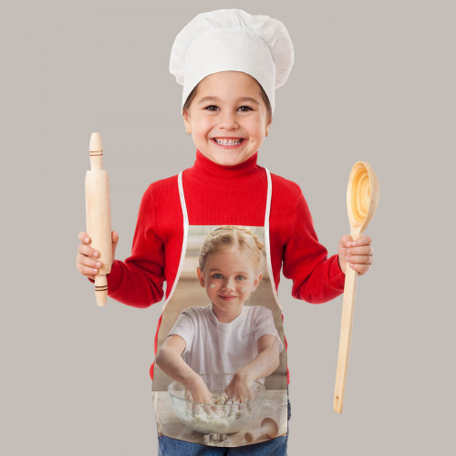 personalised Kids Photo Upload Apron