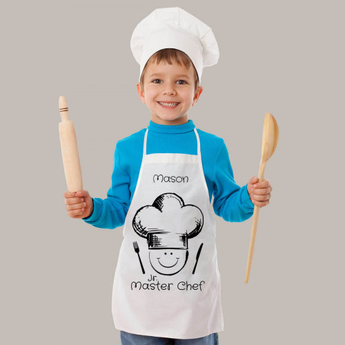 Personalised Kids Chef White Apron