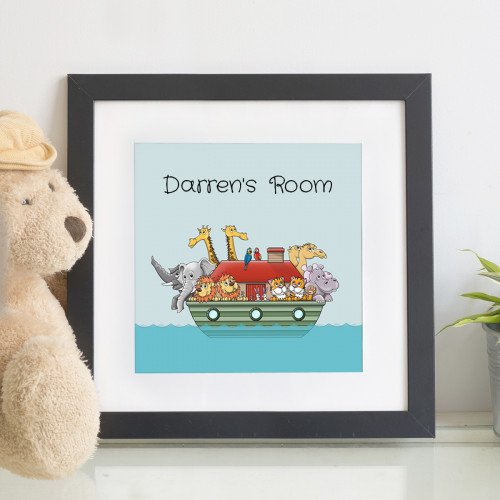 Personalised Noah's Ark Children's Wall Art