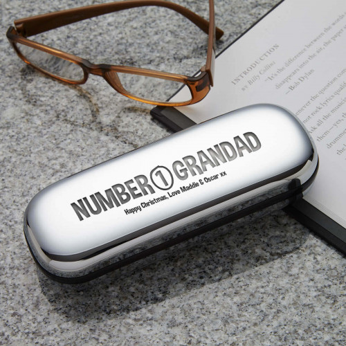 personalised number 1 grandad glasses cases