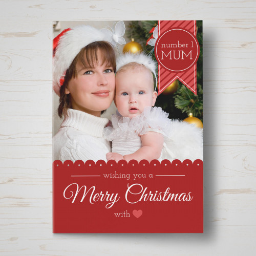 Personalised Number One Mum Christmas Card