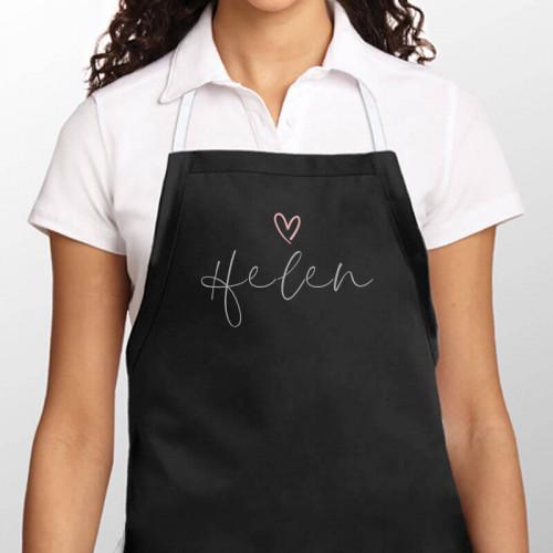 personalised Ornate Heart Name Apron