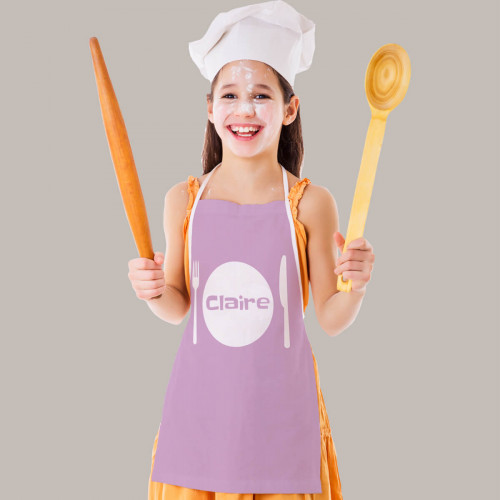 Personalised Pink Plate Apron