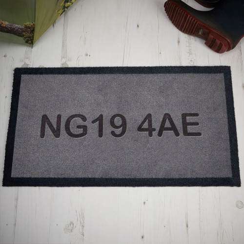 personalised postcode doormat