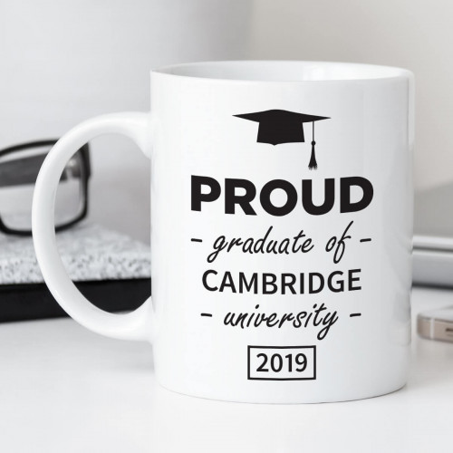 personalised proud graduate mug