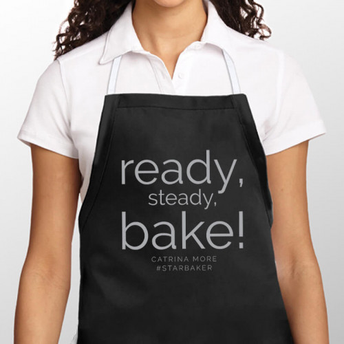 personalised Ready Steady Bake Apron