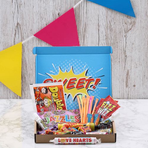 personalised Retro Sweets Letterbox Hamper