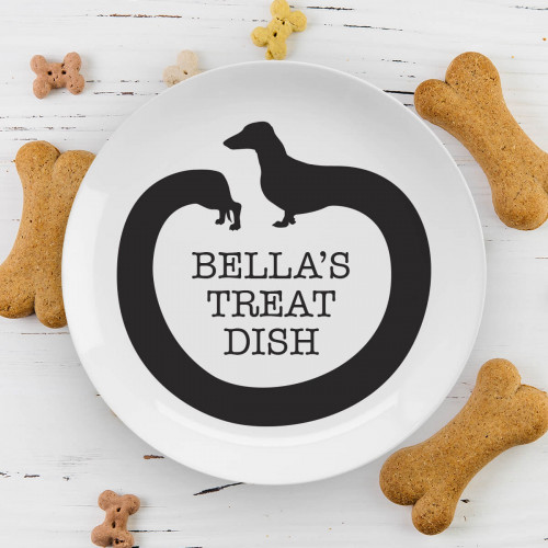 personalised sausage dog plate