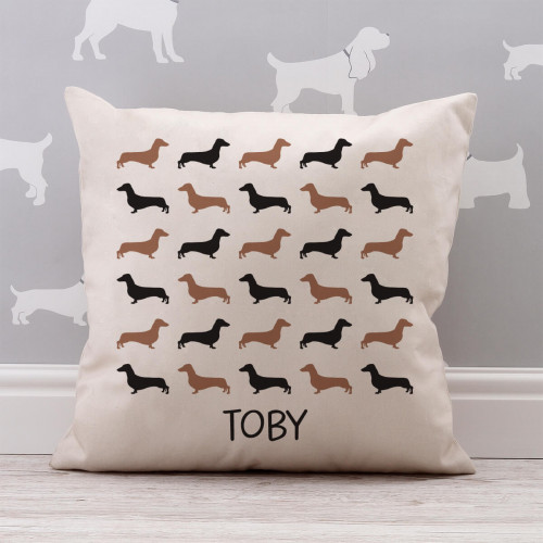 personalised patterned cotton cushion