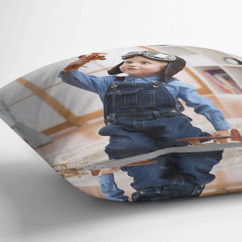 "personalised Double Sided Photo Cushion 18x18"""