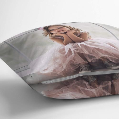 "personalised Double Sided Photo Cushion 24x24"""