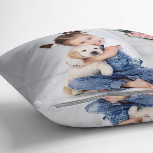 "personalised Double Sided Photo Cushion 22x22"""