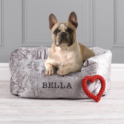 personalised velvet bed
