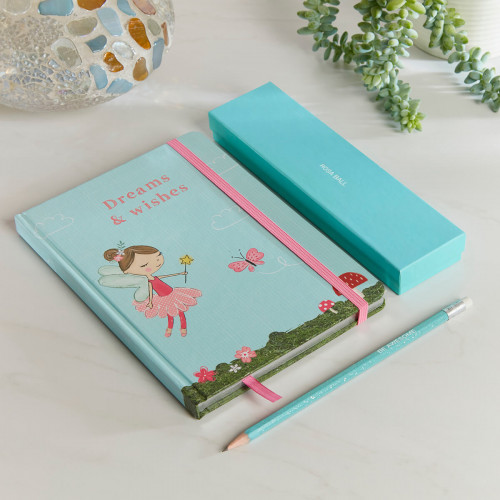 personalised Large Aqua Forest Fairies Dreams & Wishes Gift Set