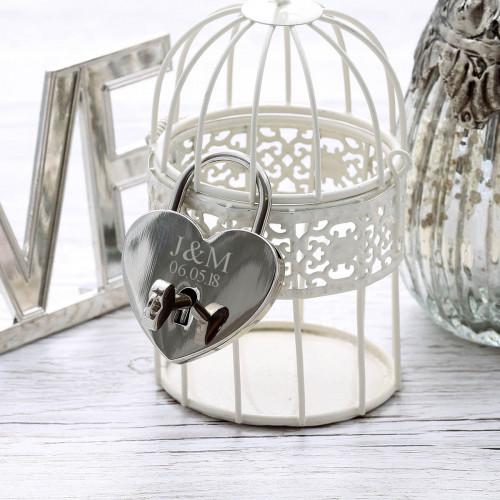 personalised Silver Lock