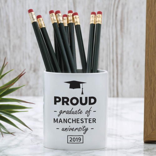personalised Proud Graduate Pen Pot