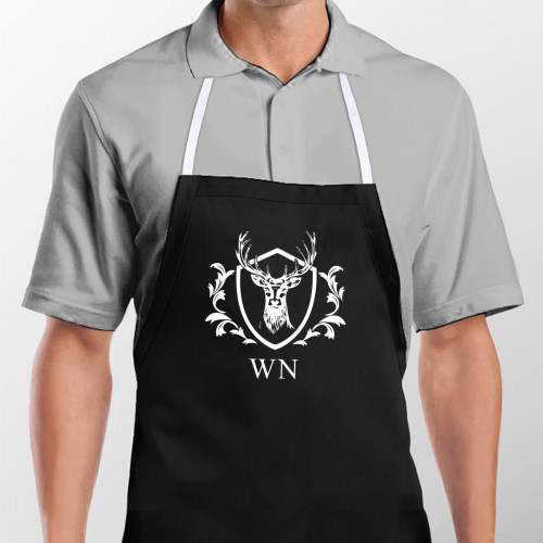 personalised Stag Crest Apron