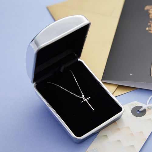 Personalised Sterling Silver Cross & Chain