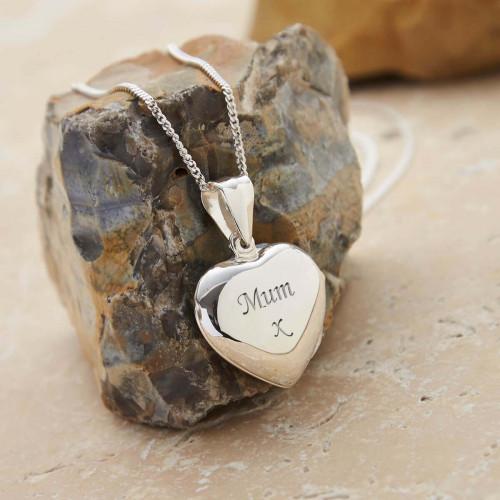 Personalised Sterling Silver Heart Locket