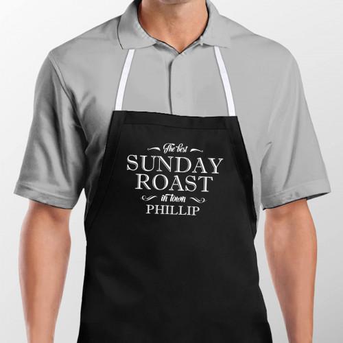 personalised The Best Sunday Roast Apron