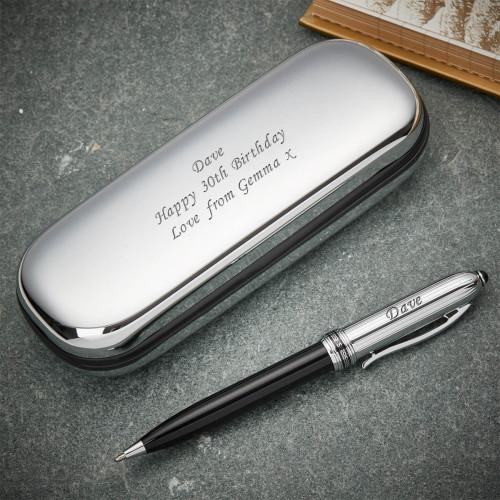 personalised Aztec Ballpoint Pen & Case