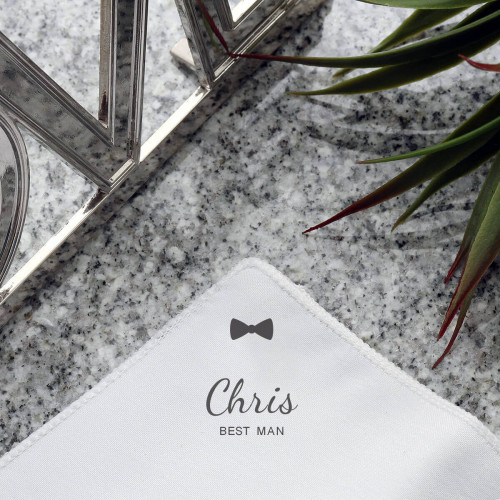 personalised Bow Tie Pocket Square