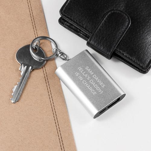 personalised Mini Powerbank Keyring