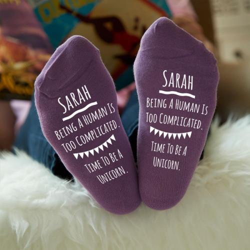 personalised be a unicorn socks