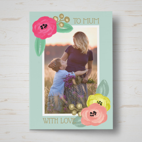 personalised Floral Mother's Day Card
