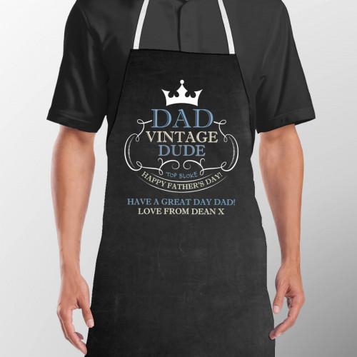 personalised vintage dad apron