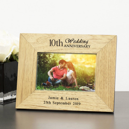 personalised wedding anniversary frame