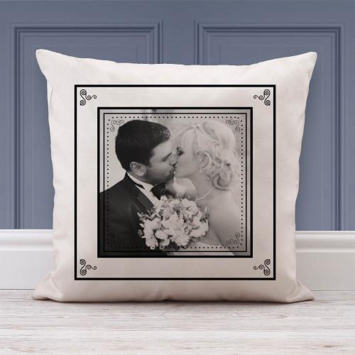 personalised Wedding Frame Photo Cushion
