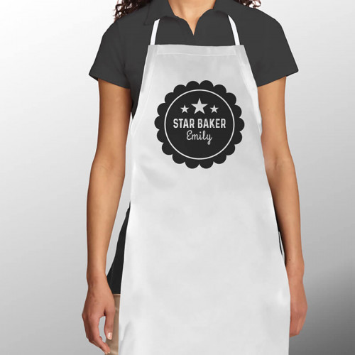 personalised Star Baker Women's Apron