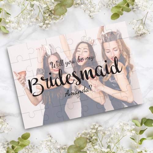 personalised Be My Bridesmaid Photo Jigsaw Puzzle