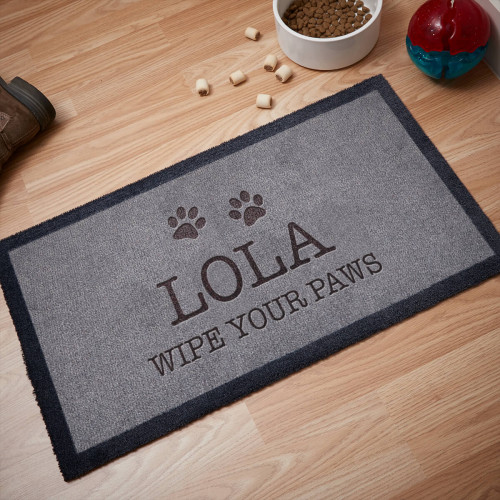 personalised dog mat