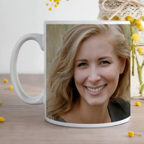 personalised Woman Age Photo Durham Mug