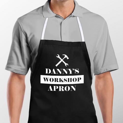 personalised Workshop Apron