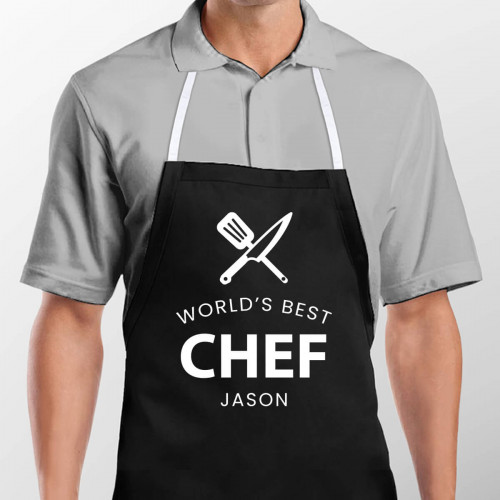 personalised World's Best Chef Apron