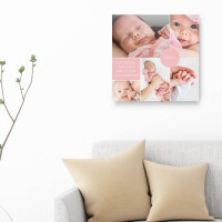 """personalised 12x12"""" New Baby Collage Canvas Boy / Girl"""