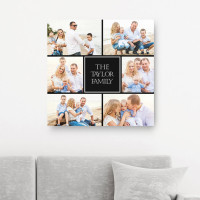 """Personalised 12x12"""" Photo Collage Canvas"""