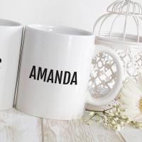 Personalised 15th anniversary matching mugs