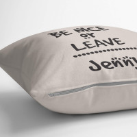 personalised Be Nice or Leave Cotton Cushion
